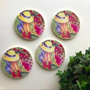 - Vintage Coaster Craft Set Of 4 Coasters